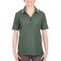 MYC - Ladies' Short-Sleeve Whisper Piqué Polo with Tipped Collar Thumbnail
