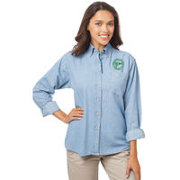 MYC - Ladies' Long Sleeve Denim Shirt - BG-8202 Thumbnail
